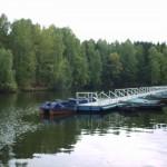 Лодочная пристань на водохранилище