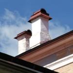 Крыши и труба дома в усадьбе Абрамцево