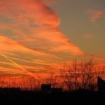 Пламенный истлел закат