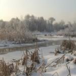 Перспектива зимней реки