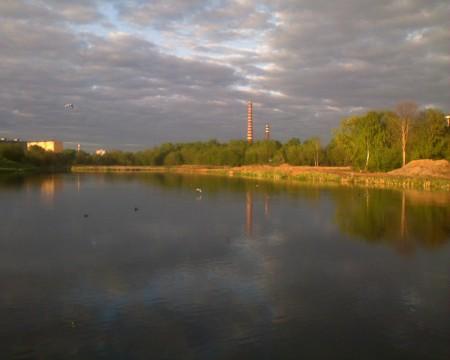 обои Яуза река