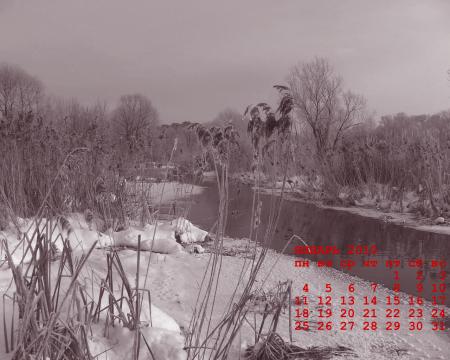 календарь январь 2010