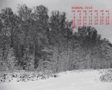 ноябрь 2010 календарь рабочего стола