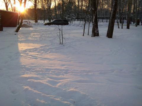 Motorola ZN5: Тестовый снимок зимнего пейзажа на закате