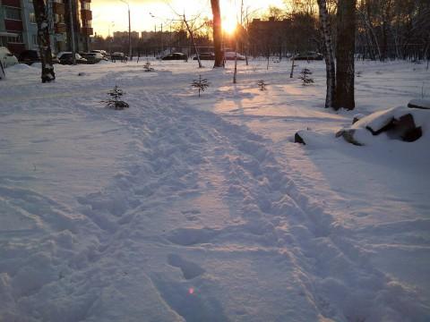 Закат и снег