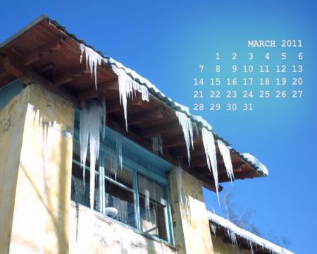 календарь на март 2011 года (обои на рабочий стол)