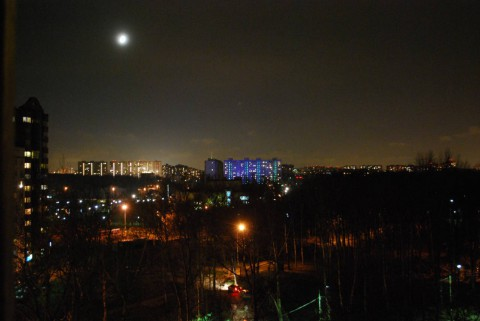 вид на Москву и Мытищи ночью