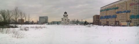 панорамный вид с собором в центре