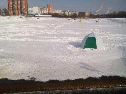 палатка рыбака