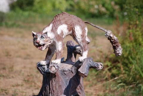 скульптура кота