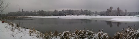 панорама Яузы зимой