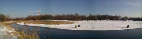 снег на берегах Яузы