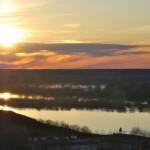 Майский закат на большой реке