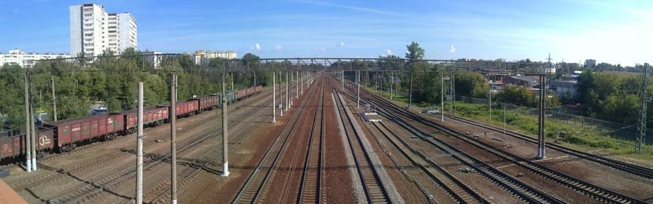 панорама железной дороги